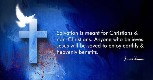 Salvation is meant for Christians and non-Christians. #belief #blueworld #electricblue #blueislove
