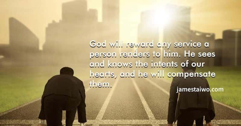 God Rewards Consistent Service