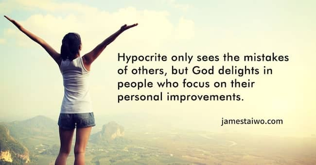 Hypocrite sees mistakes of others #focus #personalimprovements