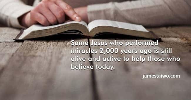Jesus performed #miracles #today #help #believe