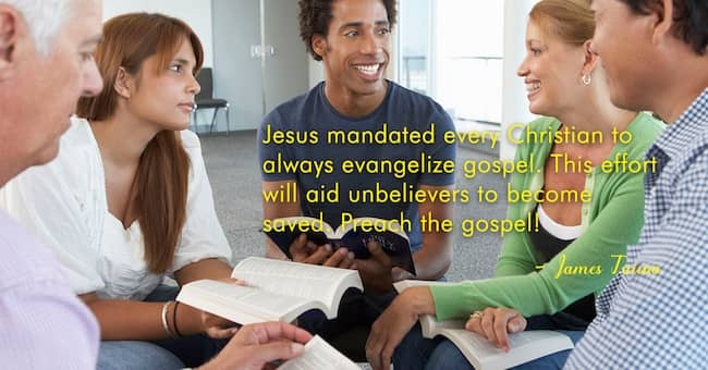 Jesus mandated Christian to evangelize #christianity #gospel #effort