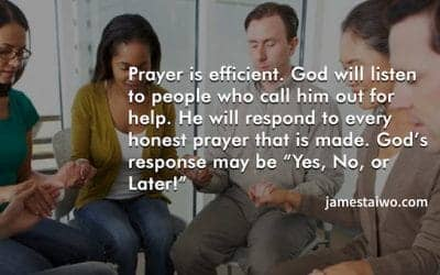 Prayer is effective