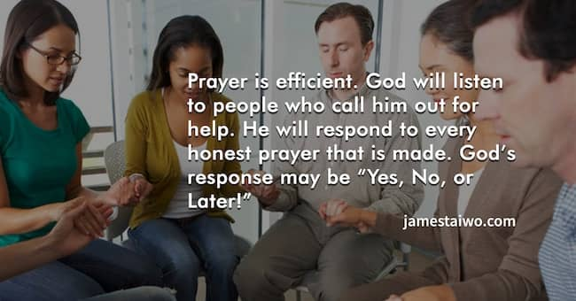 Prayer is effective