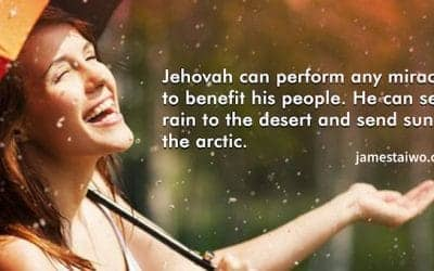 Jehovah performs any miracle