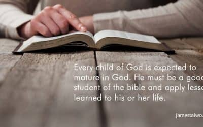 Every child of God is expected to mature